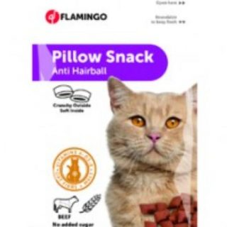 Flamingo golosina Snack Pillow Anti hairball